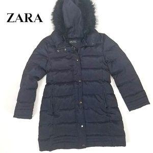 44e781e0 Zara Girls Black Down Jacket Size 9/10